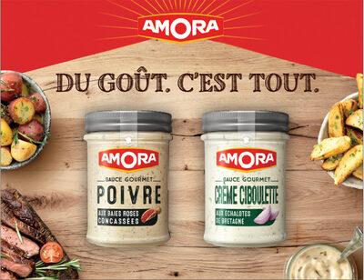 Amora Sauce Gourmet Crème à la Ciboulette et aux Echalotes de Bretagne Bocal 187g - Produit - fr