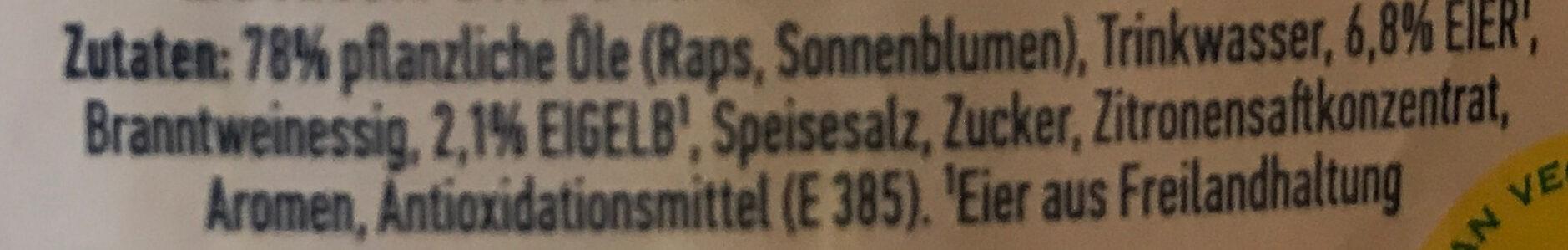 Real Mayonnaise - Ingrédients - de