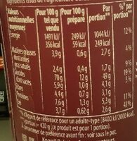 Knorr Nouilles de Riz Indonésienne Coco Citronnelle - Informations nutritionnelles - fr