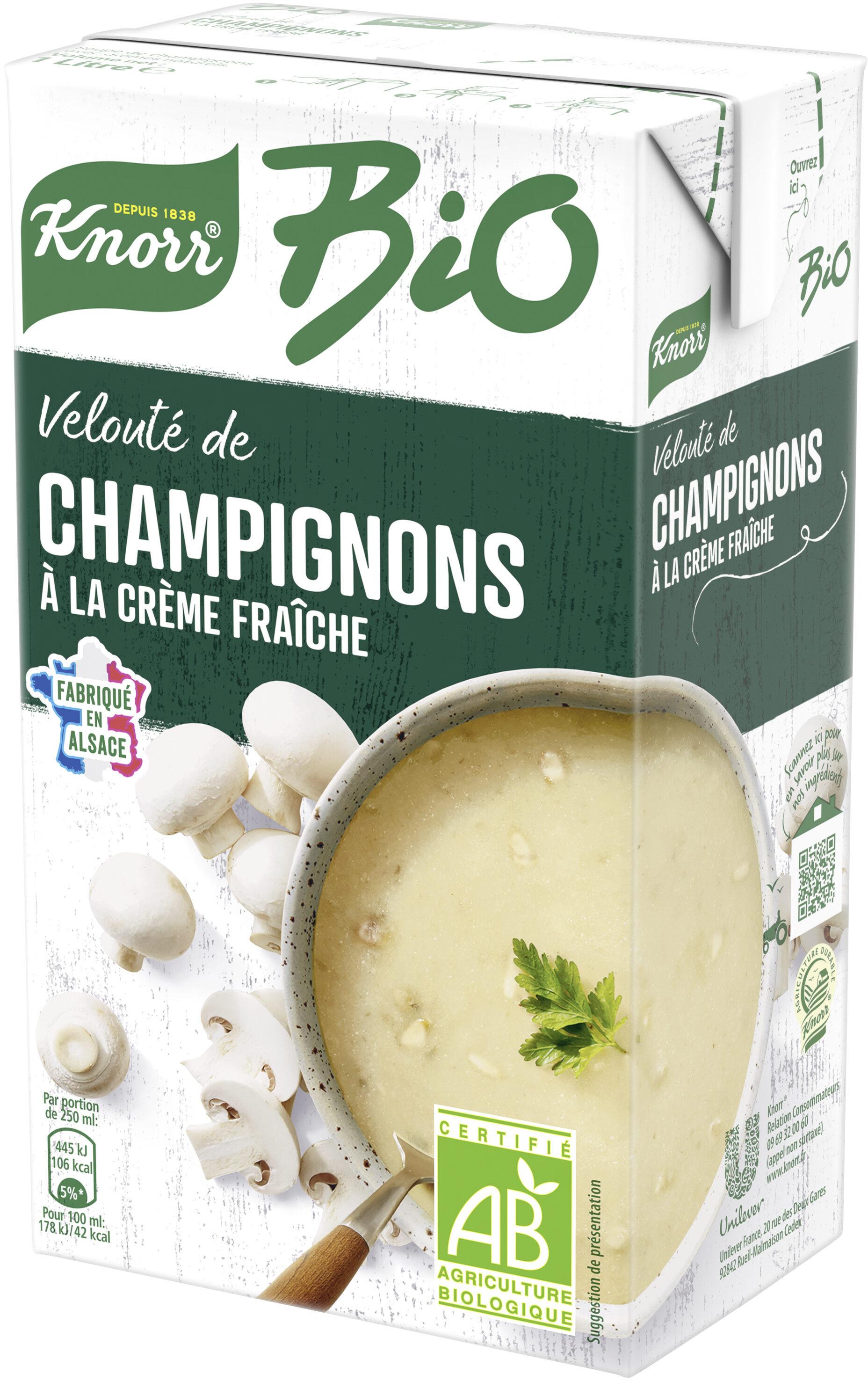 Knorr Velouté Bio Champignons à la Crème Fraîche - Produit - fr