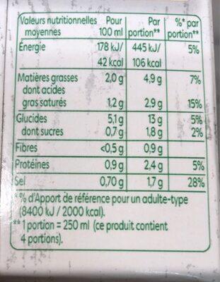 Knorr Velouté Bio Champignons à la Crème Fraîche - Informations nutritionnelles - fr