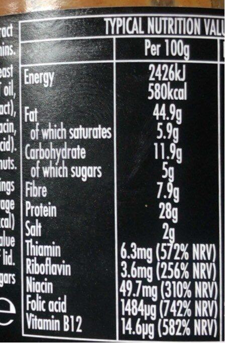 Marmite crunchy peanut butter - Informations nutritionnelles - en