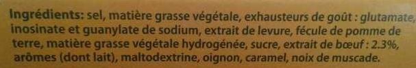 Knorr saveur boeuf - Ingredients - fr