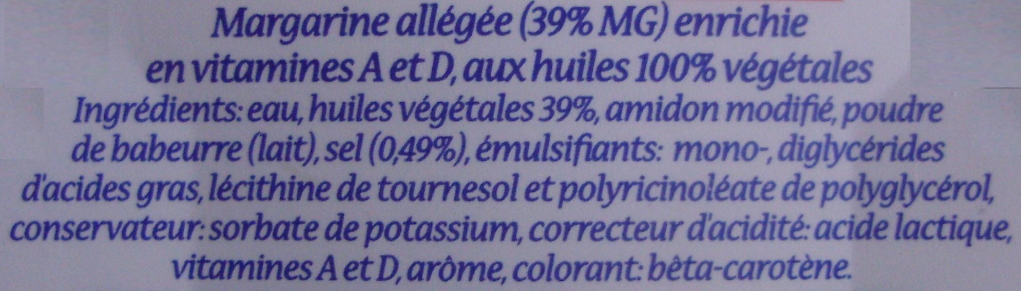 Tendre mousse (39% MG) Doux - 320 g - Planta Fin - Ingrediënten