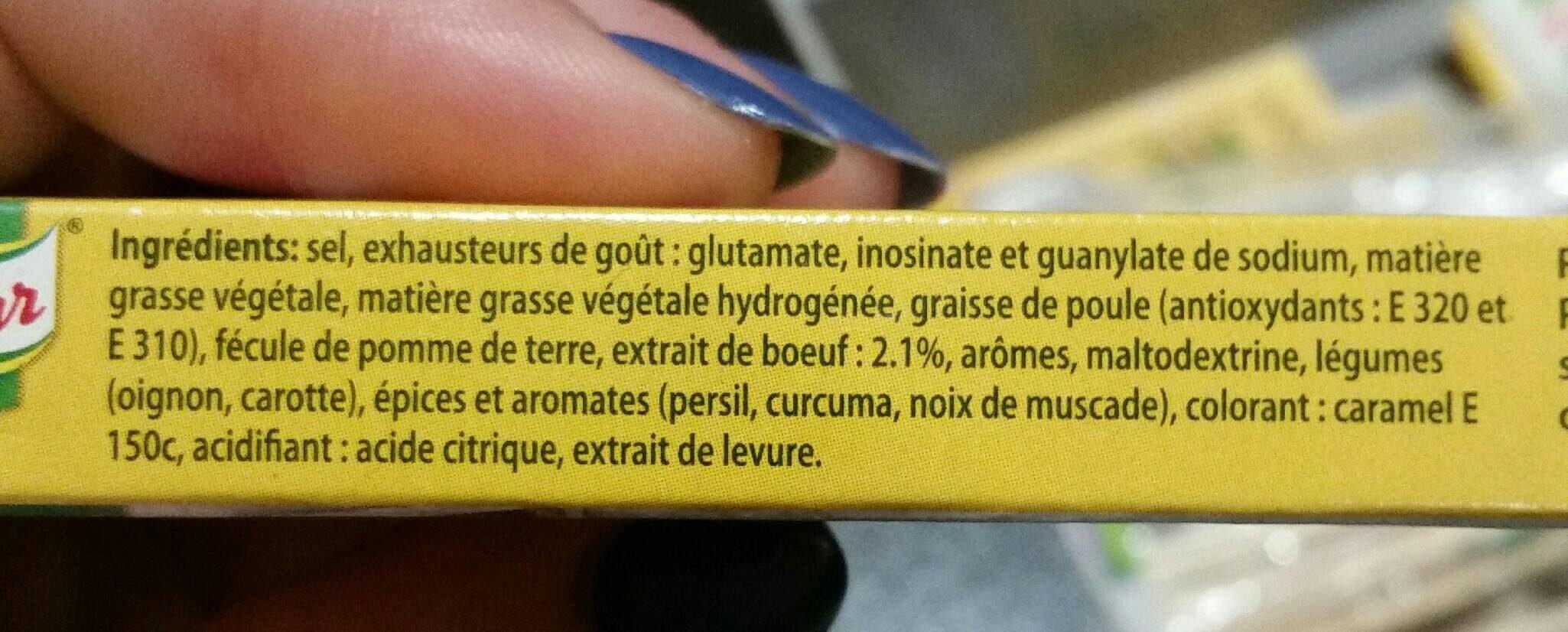 Bouillon Pot-au-Feu - Ingrédients