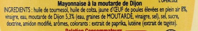 Mayonnaise de Dijon - Ingrediënten - fr