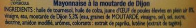 Amora Mayonnaise De Dijon 235g - Ingrédients