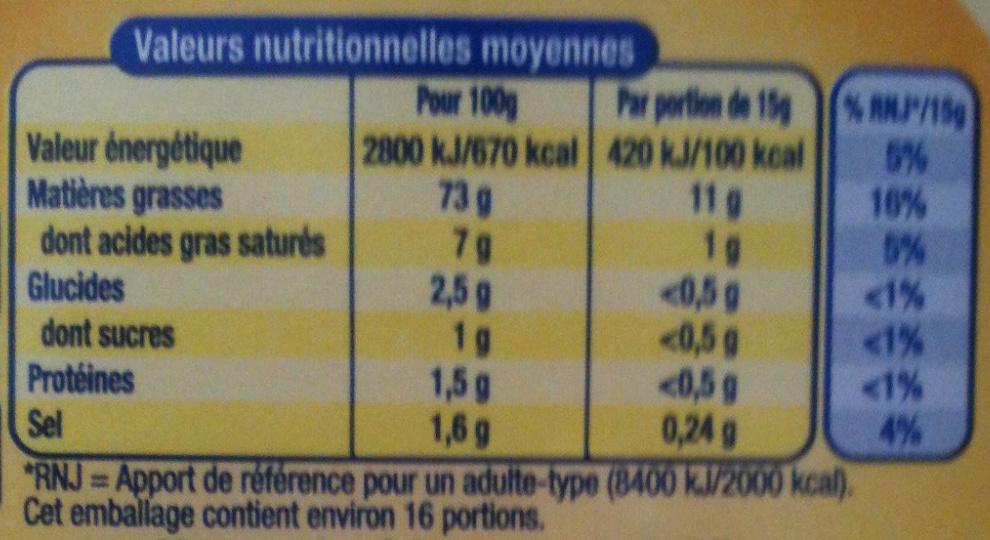 AMORA Mayonnaise de Dijon Flacon Souple - Nutrition facts - fr