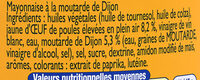 Amora mayo sans sulf - Ingrediënten - fr