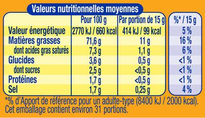 Amora Mayonnaise De Dijon Nature Œufs de poules élevées en plein air - Informations nutritionnelles - fr