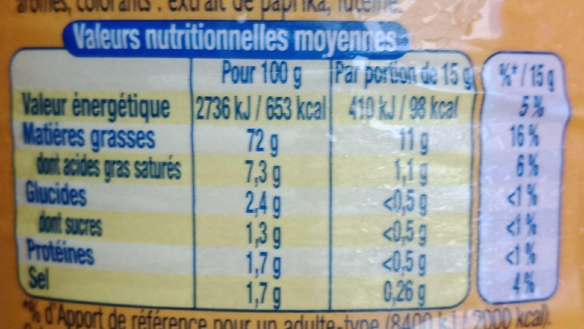 Amora mayo sans sulf - Informazioni nutrizionali - fr