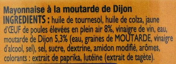 AMORA Mayonnaise de Dijon Bocal - Ingredients - fr