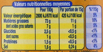 AMORA Mayonnaise de Dijon Bocal - Nutrition facts - fr