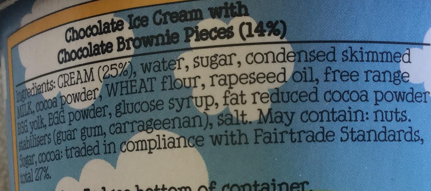 Chocolate Fudge Brownie - Ingrédients - en