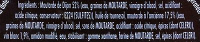 Moutarde fins gourmets - Ingredients