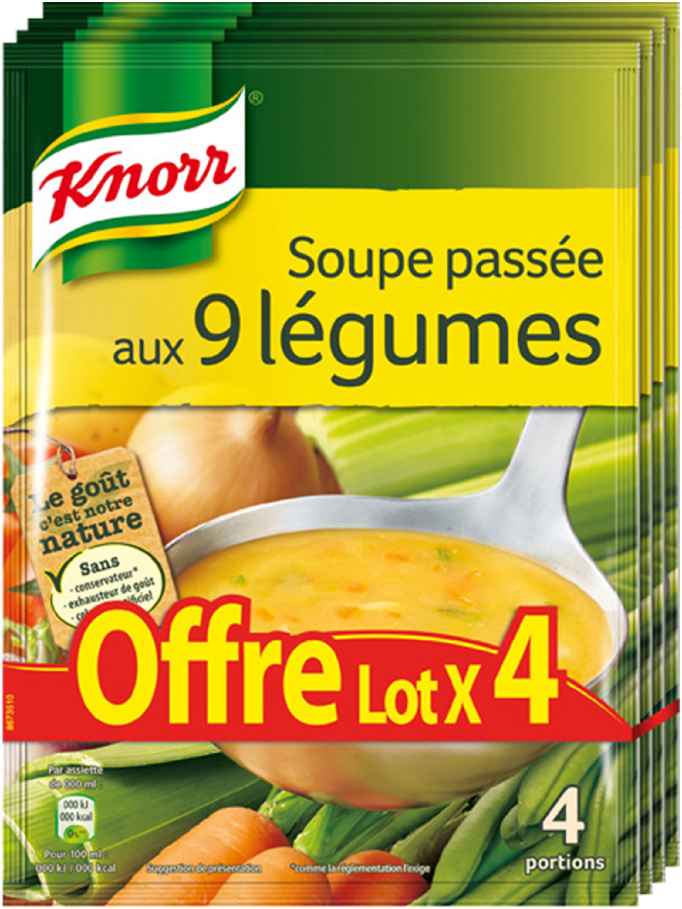 Knorr Soupe Passée aux 9 Légumes 105g 4 Portions Lot de 4 - Product - fr