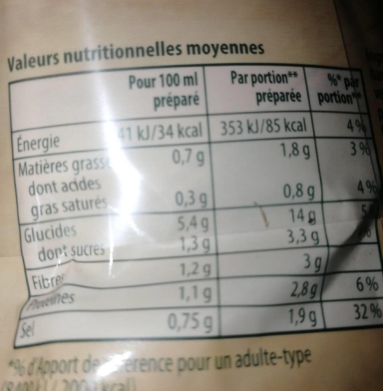 Knorr Soupe Passée aux 9 Légumes 105g 4 Portions Lot de 4 - Voedingswaarden - fr