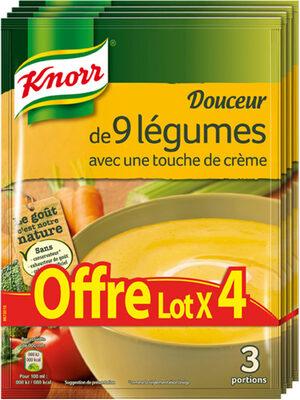 Knorr Soupe Douceur De 9 Légumes Touche De Crème lot de - Product - fr