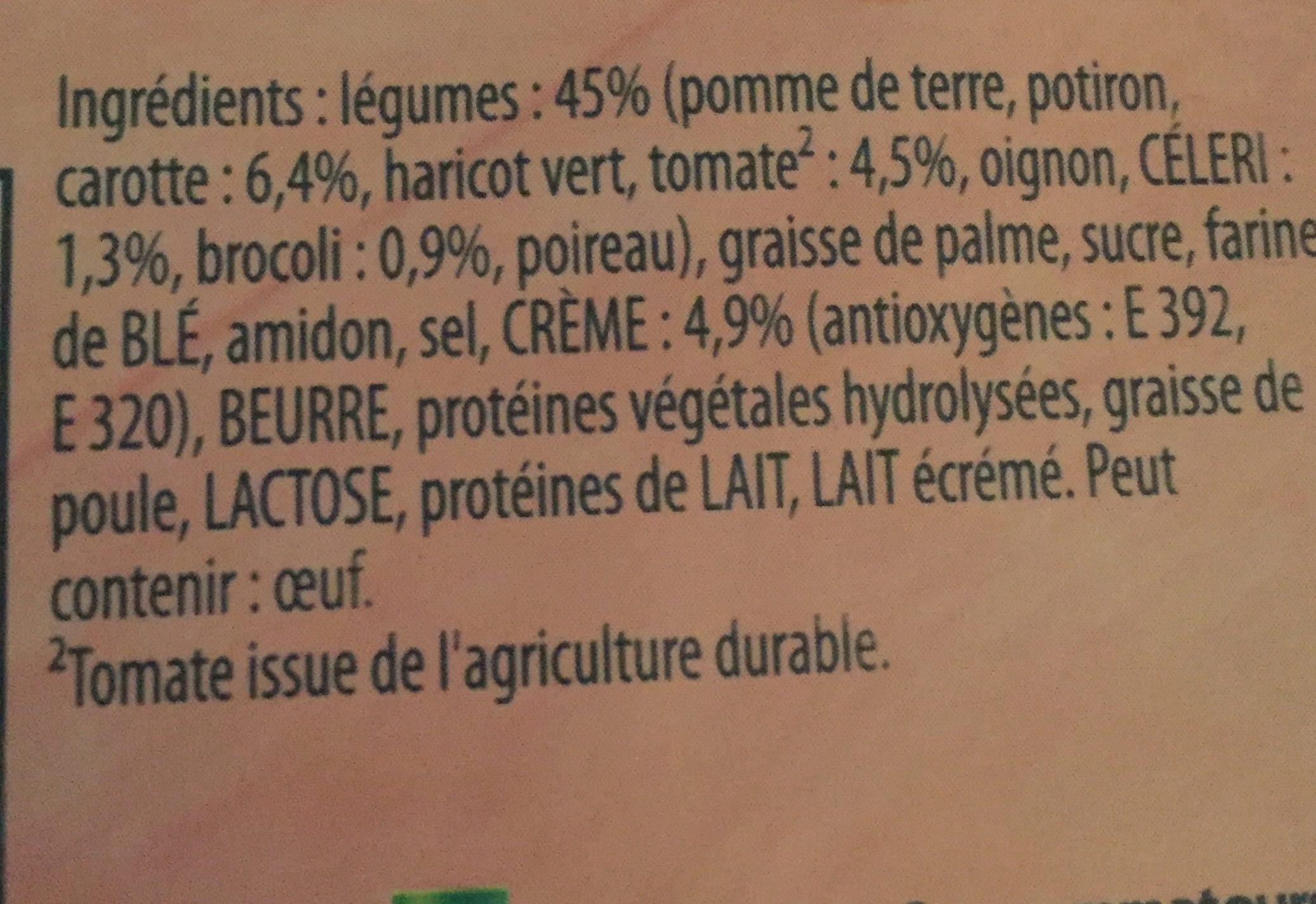 Knorr Soupe Douceur De 9 Légumes Touche De Crème lot de - Ingrediënten - fr