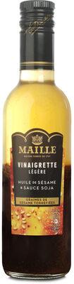 Maille Vinaigrette Légère Huile de Sésame & Sauce Soja Graines de Sésame Torréfiées 36cL - Product