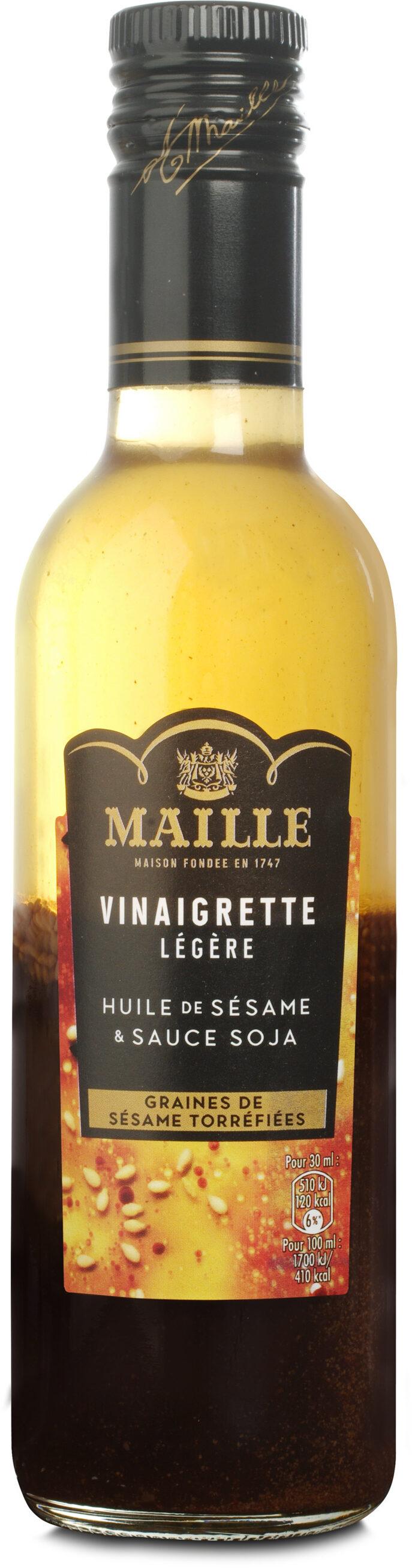 Maille Vinaigrette Légère Huile de Sésame & Sauce Soja Graines de Sésame Torréfiées 36cL - Product - fr