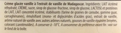 Crème glacée Vanille de Madagascar - Ingredienti - fr