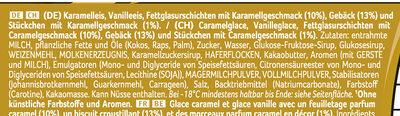 Viennetta Biscuit Caramel - Zutaten - de