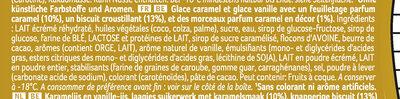 Viennetta Biscuit Caramel - Ingredients - fr
