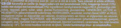 Biscuit Caramel - Ingrediënten