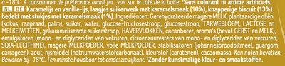 Viennetta Dessert Glacé Biscuit Caramel 7 parts 650ml - Ingrediënten - nl