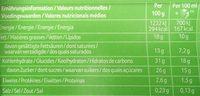 Viennetta Dessert Glacé Biscuit Caramel 7 parts 650ml - Voedingswaarden - fr