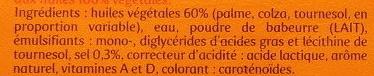Planta Fin Doux (60 % MG) Tartine & Cuisson - Ingredients