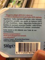 Planta Fin 60% MG Demi-sel (Tartine et Cuisson) - Ingredients