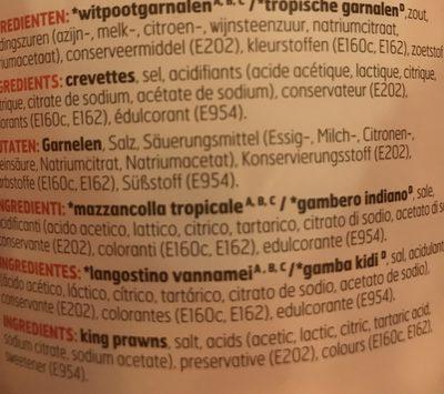 crevettes roses - Ingrédients - fr