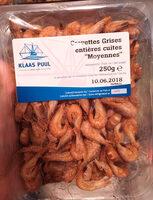 """Crevettes Grises Entières Cuites """"Moyennes"""" - Produit - fr"""