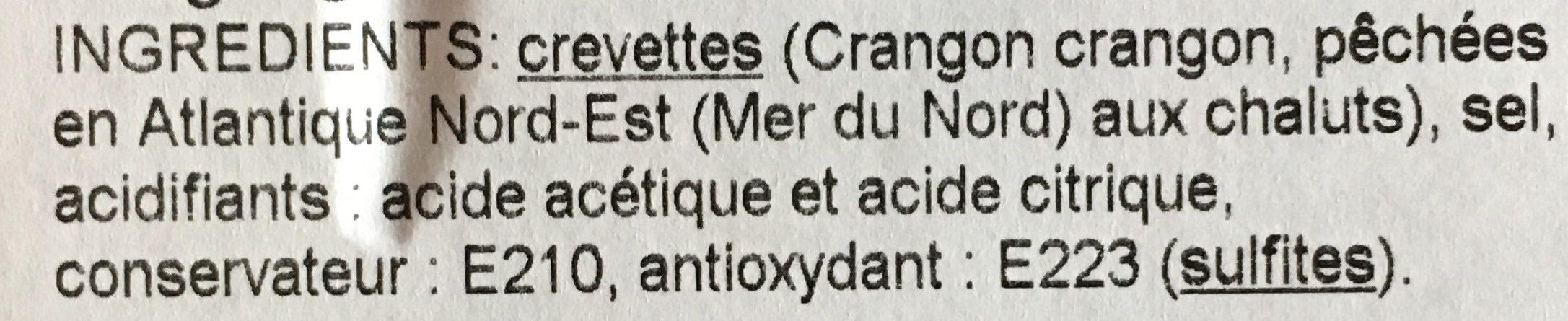 """Crevettes Grises Entières Cuites """"Moyennes"""" - Ingrédients - fr"""