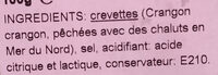 Crevettes grises - Ingredients