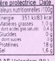 Queue d'ecrevisse - Informations nutritionnelles - fr