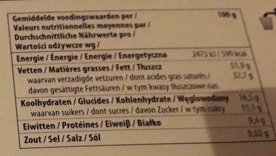 85% dark - Voedingswaarden - fr