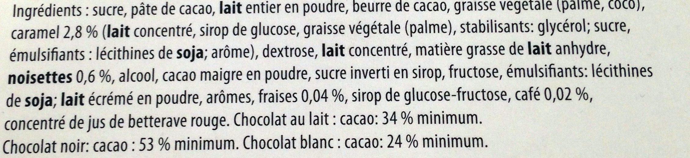 Belgian Chocolates - Ingrediënten