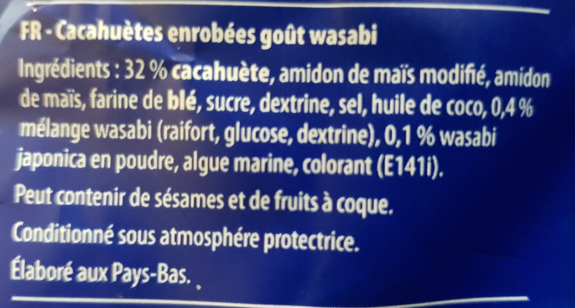 Wasabi peanuts - Ingredients - fr