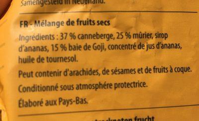 Fruity mix - Ingrediënten - fr