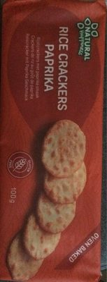 Rice crackers paprika - Product - fr