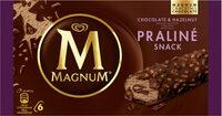 Magnum Barre Glacée Chocolat & Noisette x6 - Produit - fr