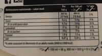 Affogato alla gianduia nocciolato - Valori nutrizionali - en