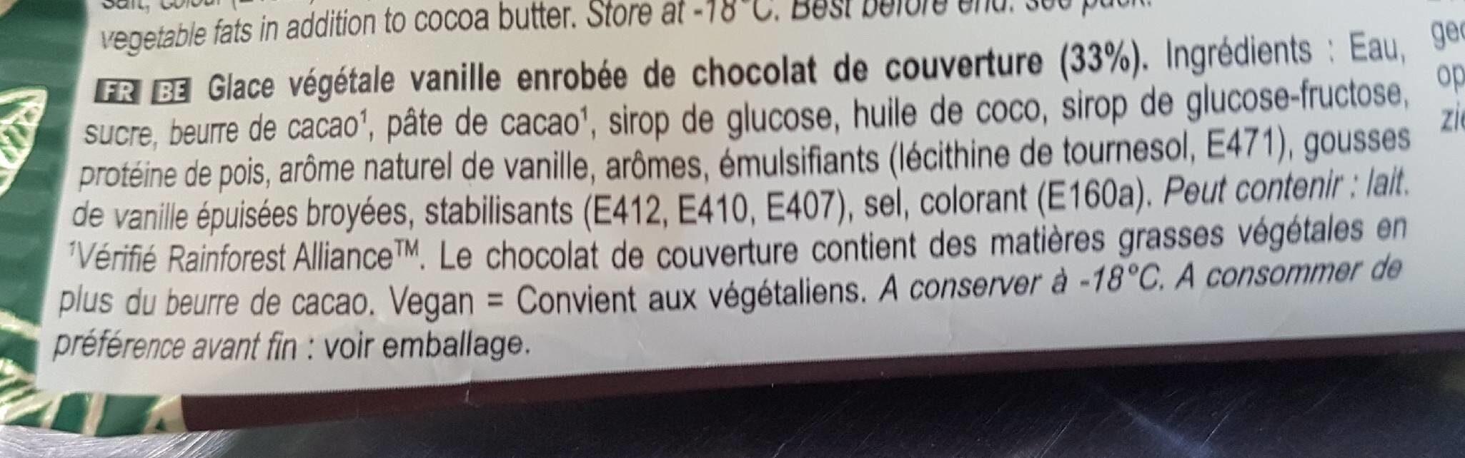 Magnum Batônnet Glace Vegan Classic - Ingrédients - fr