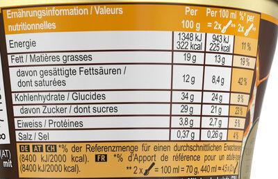 Magnum Glace Pot Double Caramel Salé - Informations nutritionnelles - fr