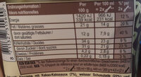 Magnum Glace Pot White Chocolate Cookies 440ml - Nährwertangaben - de