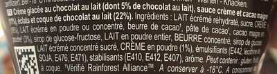 Magnum Glace Pot Double Chocolat Deluxe - Ingredientes - fr