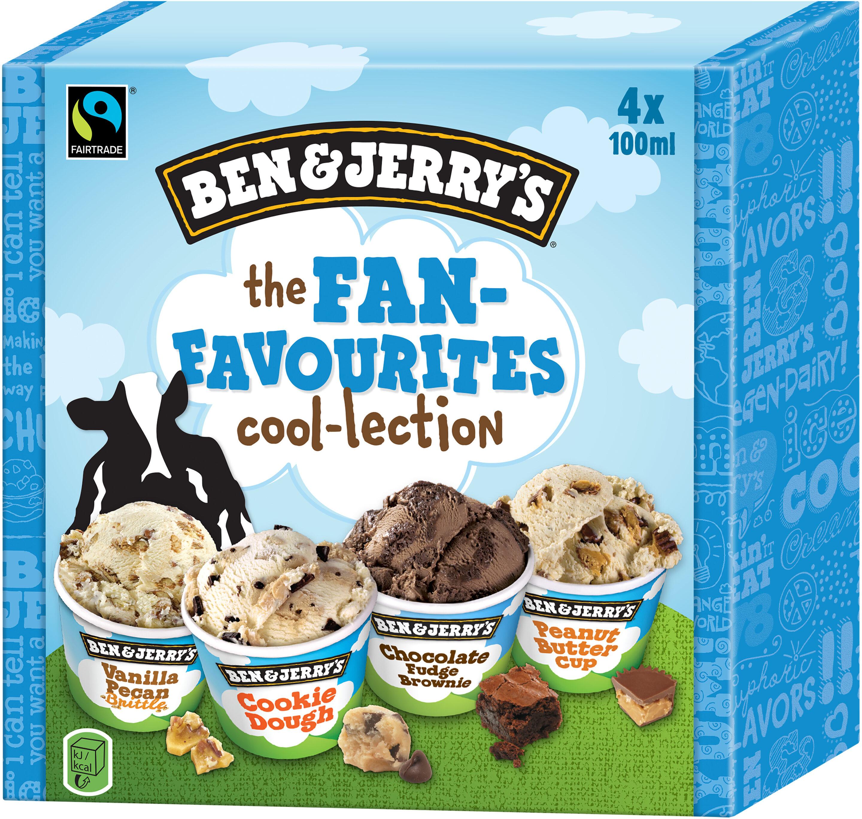 Ben & Jerry's Glace Mini Pots The Fan-Favourites Cool-lection 4x100ml - Prodotto - fr
